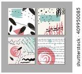 set of 4 creative universal... | Shutterstock .eps vector #409950085
