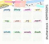 calendar 2017 calendar vector