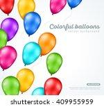 festive glossy balloons on... | Shutterstock .eps vector #409955959