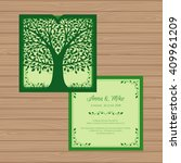 wedding invitation or greeting... | Shutterstock .eps vector #409961209