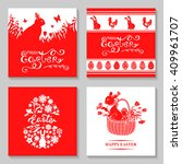 illustrations of easter card... | Shutterstock . vector #409961707