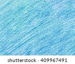Crayon Scribble Texture. Blue...
