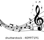 musical design elements from... | Shutterstock .eps vector #40997191