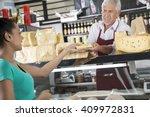 Happy Salesman Selling Cheese...