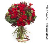 Red Bouquet Of Various Flowers...