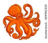 vector image or logo octopus on ...   Shutterstock .eps vector #409981555