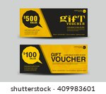 yellow gift voucher  coupon...