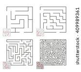 set of mazes 21 | Shutterstock .eps vector #409989361