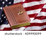 book on american usa flag... | Shutterstock . vector #409990099
