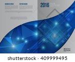 vector design for cover report... | Shutterstock .eps vector #409999495