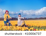 smiling mother and daughter... | Shutterstock . vector #410006737