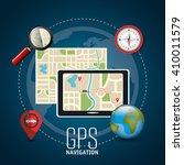 gps navigation design  | Shutterstock .eps vector #410011579