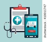 health technology design  | Shutterstock .eps vector #410011747