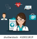 medical healthcare design  | Shutterstock .eps vector #410011819