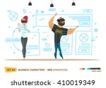 innovation business style.... | Shutterstock .eps vector #410019349