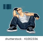 abstract bald man. vector... | Shutterstock .eps vector #41002336