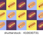 drawing vector isolated color... | Shutterstock .eps vector #410030731