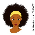 vector illustration of an afro... | Shutterstock .eps vector #410031457