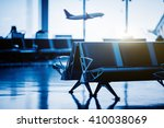 empty chairs in the departure... | Shutterstock . vector #410038069
