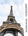 the eiffel tower what is one of ... | Shutterstock . vector #410042899