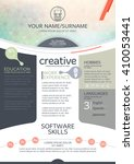 vector resume template. cv ... | Shutterstock .eps vector #410053441