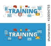 training lettering flat line...   Shutterstock .eps vector #410054755