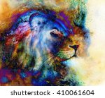 Rainbow Lion On Beautiful...