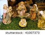 Small photo of Closeup of a Nativity Scene