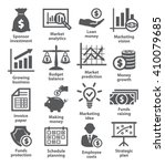 business economic icons   Shutterstock .eps vector #410079685