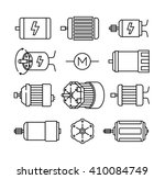 electric motor vector icons  | Shutterstock .eps vector #410084749