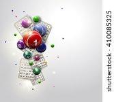Bingo Balls And Cards Design O...