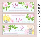 vector set of banners with hand ... | Shutterstock .eps vector #410085739