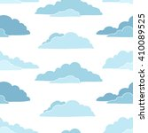 seamless pattern  with clouds. | Shutterstock .eps vector #410089525