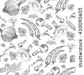 vector seamless pattern  hand... | Shutterstock .eps vector #410090605