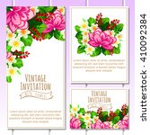abstract flower background with ... | Shutterstock .eps vector #410092384