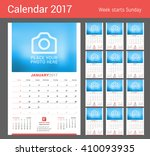 wall monthly calendar for 2017... | Shutterstock .eps vector #410093935