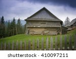 Wooden House In The Village In...