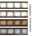 isolated vintage film frame... | Shutterstock . vector #41009821