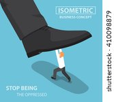 isometric businessman fights... | Shutterstock .eps vector #410098879