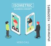 isometric businessman makes...   Shutterstock .eps vector #410098891