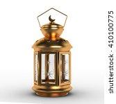 arabic ramadan lantern   3d... | Shutterstock . vector #410100775