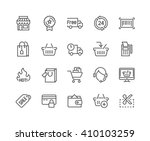 simple set of shopping related... | Shutterstock .eps vector #410103259