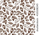 seamless pattern of the cocoa... | Shutterstock .eps vector #410108245