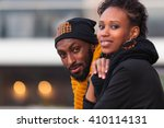 happy african american... | Shutterstock . vector #410114131