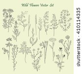 wild flowers set | Shutterstock .eps vector #410114335