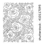 roses flowers  floral pattern.... | Shutterstock .eps vector #410117095