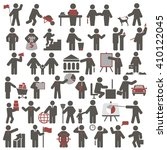people. set of icons. business...   Shutterstock .eps vector #410122045