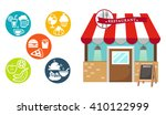 restaurant and food icon vector ... | Shutterstock .eps vector #410122999