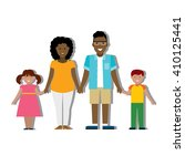 multicultural family on white... | Shutterstock .eps vector #410125441