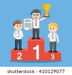 entrepreneur get a trophy on... | Shutterstock .eps vector #410129077